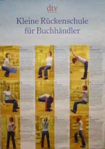 DTV Verlag - Rückenschule für Buchhändler