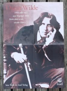 Buchplakat Oscar Wilde