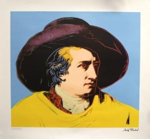 Buchplakat Goethe Andy Warhol Suhrcamp Verlag