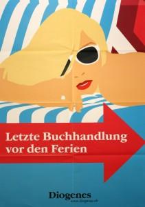 Poster Diogenes Verlag Letzte Buchhandlung