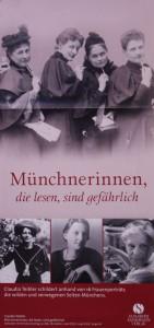Plakat Münchnerinnen