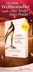 Poster Champagner und Stilettos