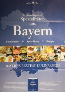 Plakat mit bayerischen Schmankerln