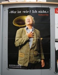 Plakat zu den vielen neuen Polt-Sachen im Kein& Aber Verlag